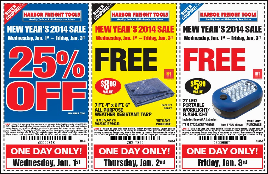 Harbor freight tools coupon code