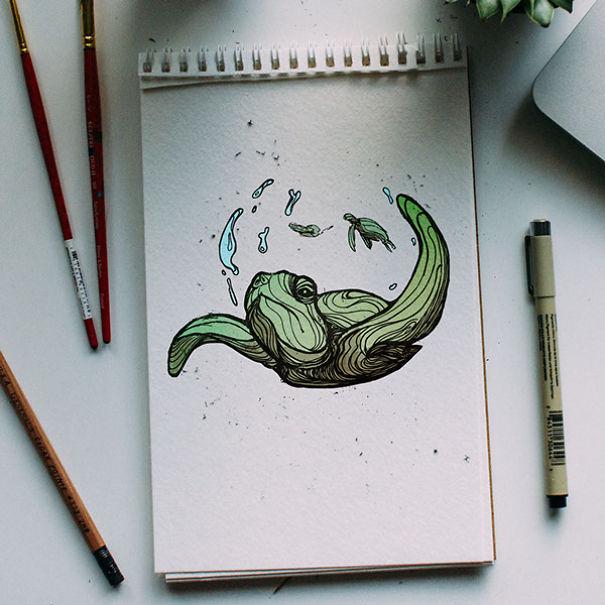 kyson dana alphabet animal illustrations-12