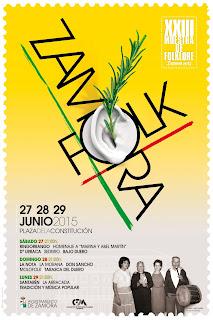 cartel Zamora Folk 2015