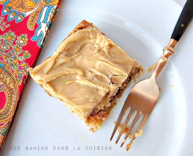 Chunky, Spiced Apple Cake with Penuche Frosting | une Gamine dans la Cuisine