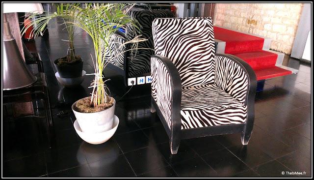 Zebra Square fauteuil club zébré