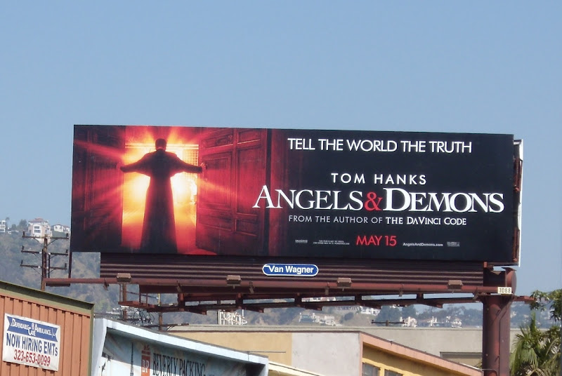 Angels and Demons movie billboard