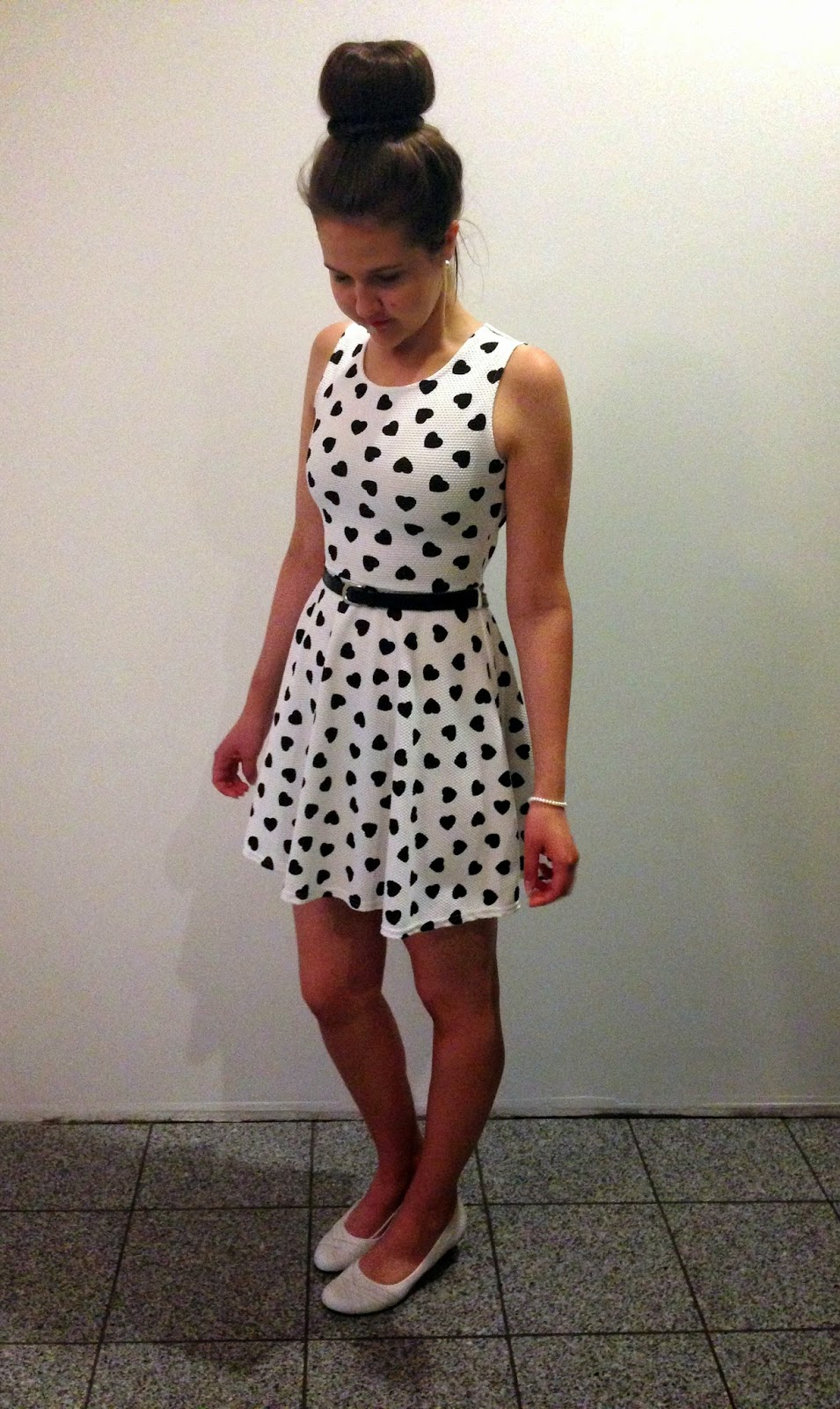 Me and my sweet 16 dress. Black and white dress. Dress with hearts