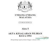 Akta 5 - Kesalahan Pilihanraya (pindaan 2006)