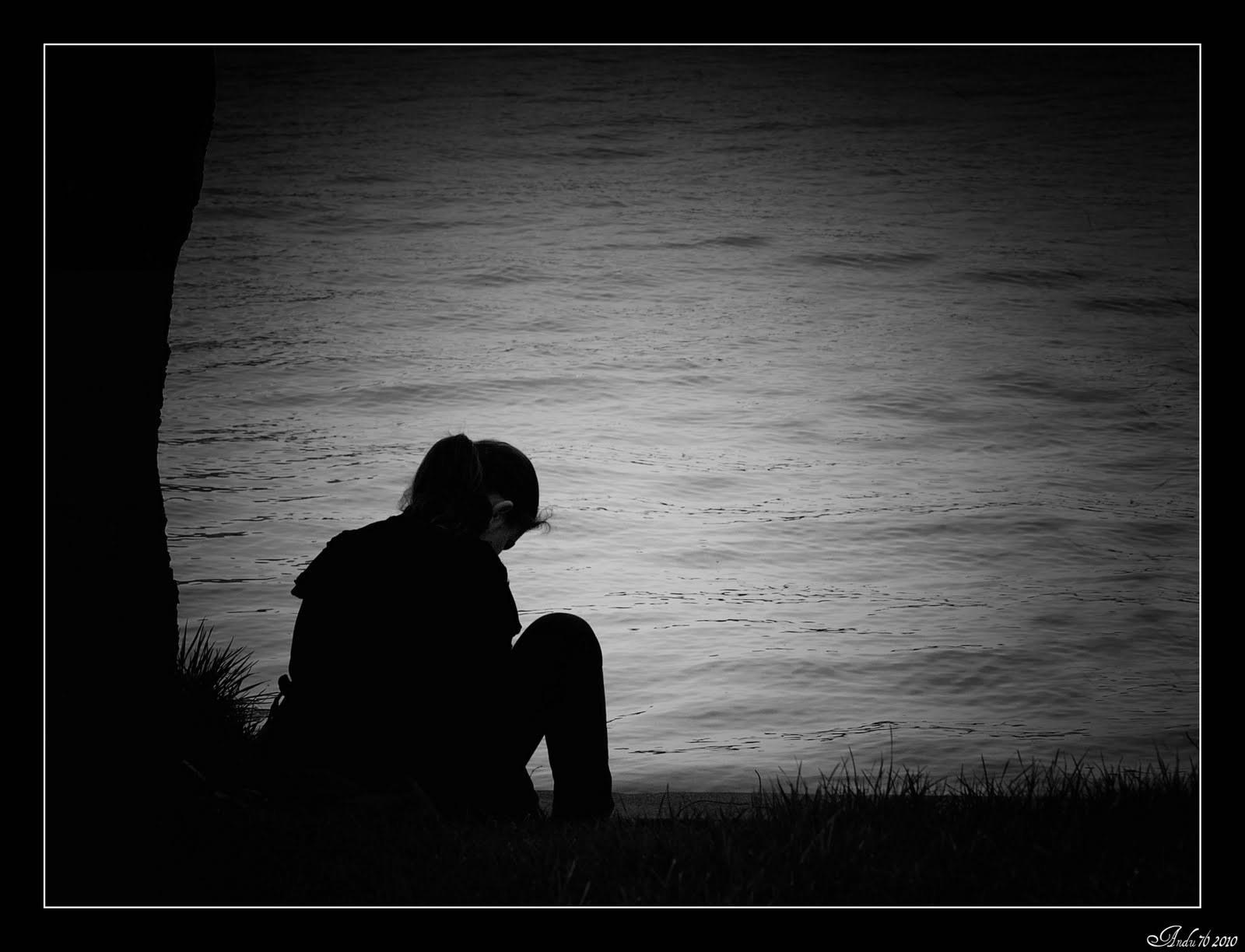 Lonely Black And White Love in Silence...