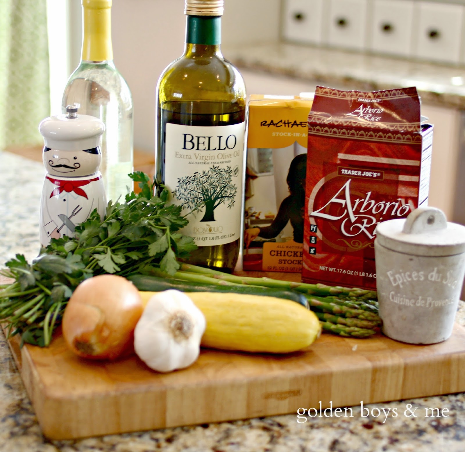 Ingredients for Vegetable Risotto recipe-www.goldenboysandme.com