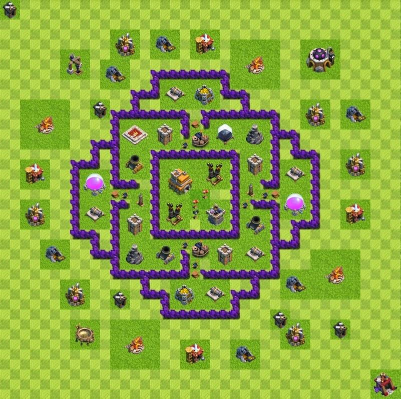 clash of clans alliance war layouts guerra cv 7