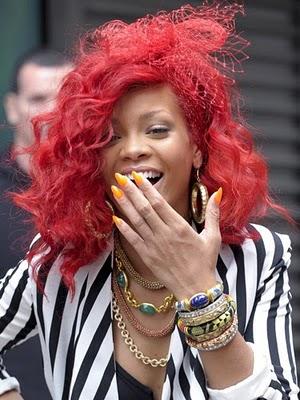 rihanna hair color red. rihanna red hair color.