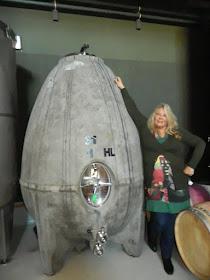 El huevo biodinámico de cemento para fermentar los vinos