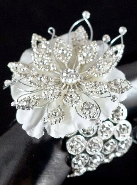 More Bling Please! add more sparkle to your prom corsage