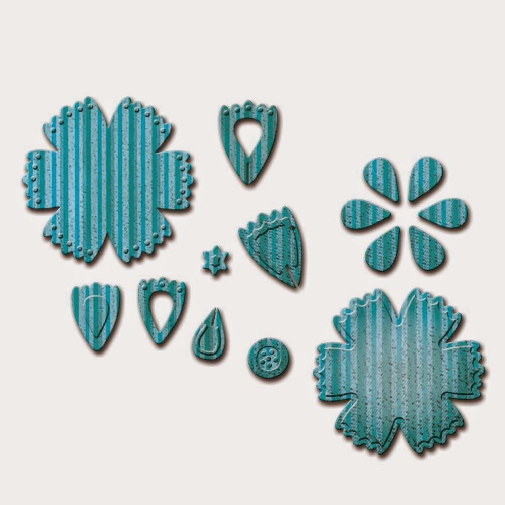 Spellbinders D-Lites - Crafty Flower 6 die