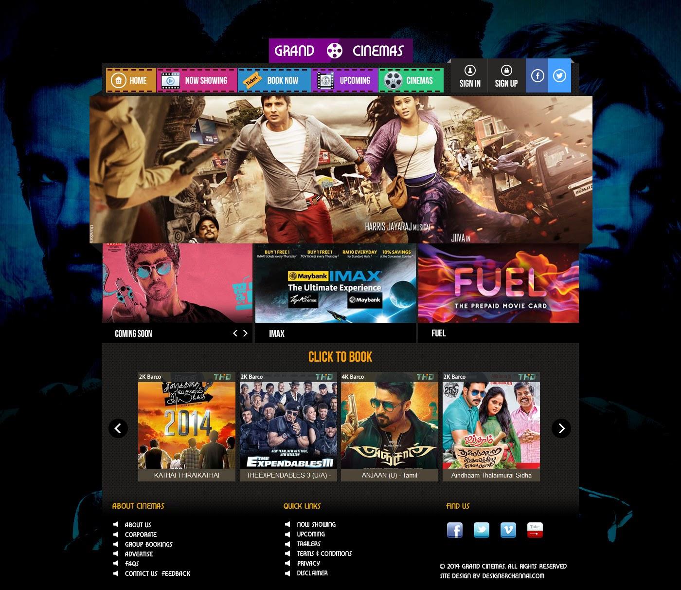 graphical cinema web ui designers in chennai