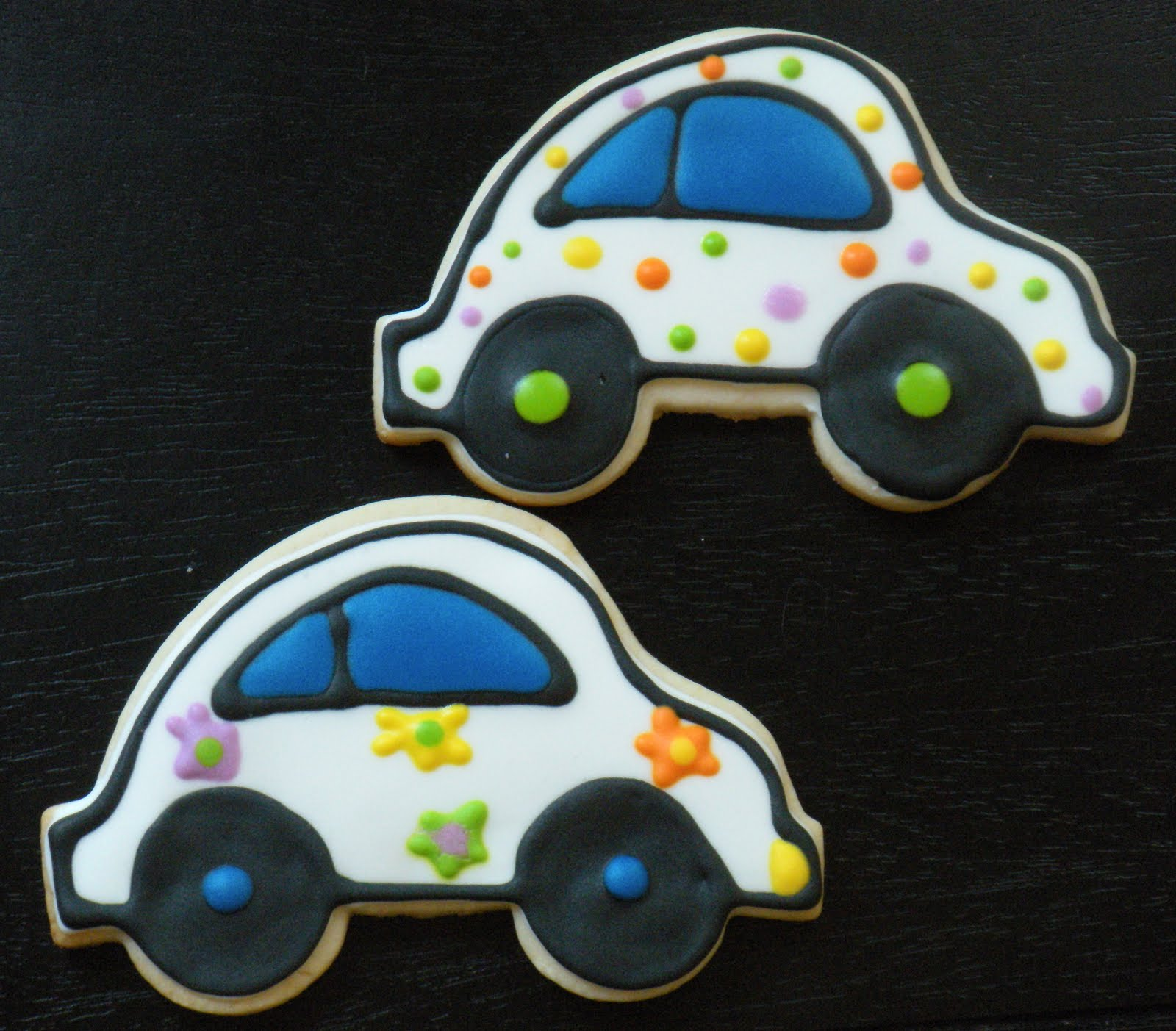 I made these VW Bugs in