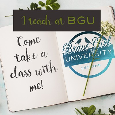 Im teaching online classes here! Come take a peek and save your spot!!  Just press on the BGU image