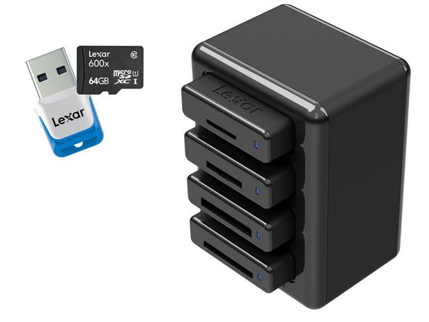 Ifa 2013 600x Sdxc And Microsd Card Rack Modular Reading