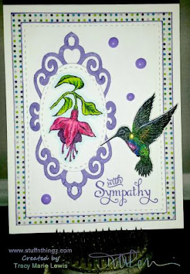 ODBD Hummingbird, ODBD Custom Hummingbird Die, ODBD Fuschia, ODBD Loving Memories, ODBD Customer Card of the Day by Tracy Marie Lewis