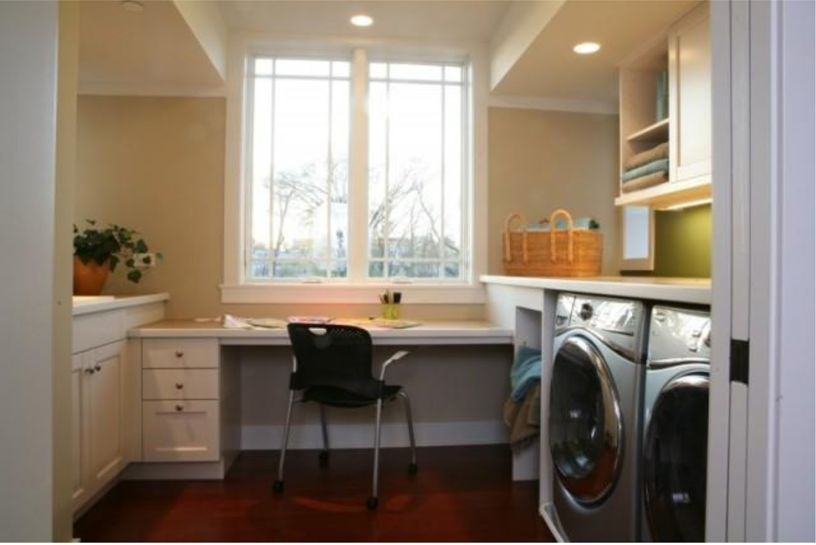 Simplifying remodeling designer 39 s touch 10 tidy laundry for Laundry room office