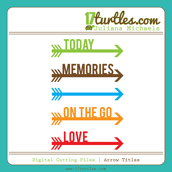 Arrow Titles Free Digital Cutting File by Juliana Michaels
