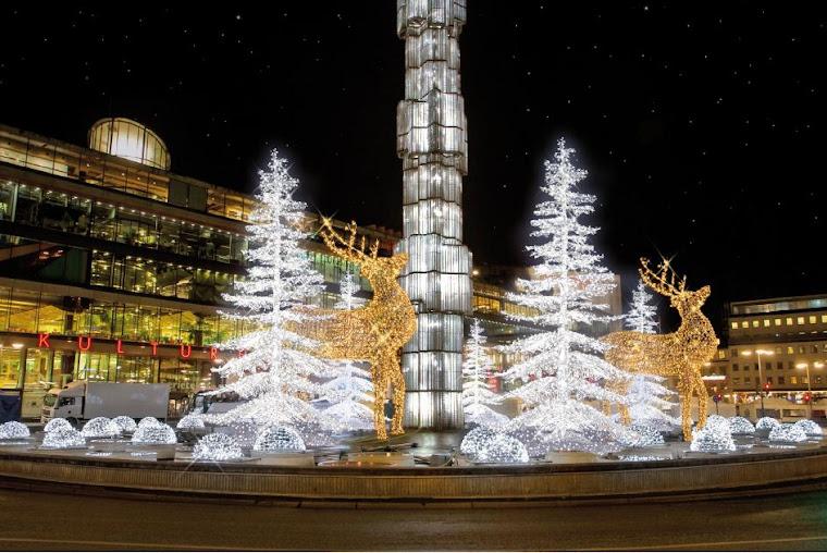 Alumbrado de Navidad en Estocolmo. Foto tomada de blogg.resia.se