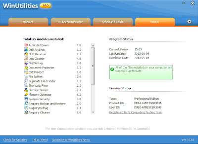 Download WinUtilities Professional Edition 11.0 Multilanguage Including Key
