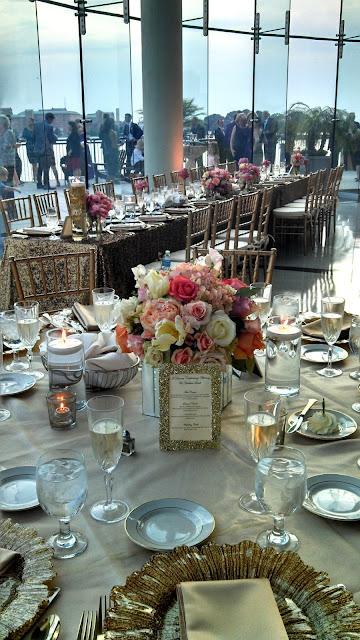 Isha Foss Events hydrangea, roses, coral charm peonies, parrot tulips in mirror cube