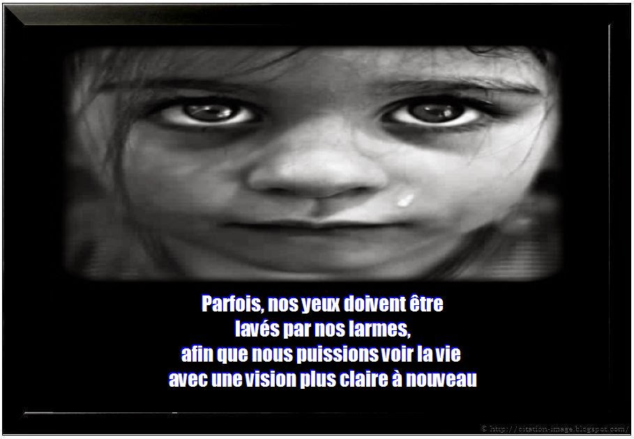 Une citation de tristesse en photo