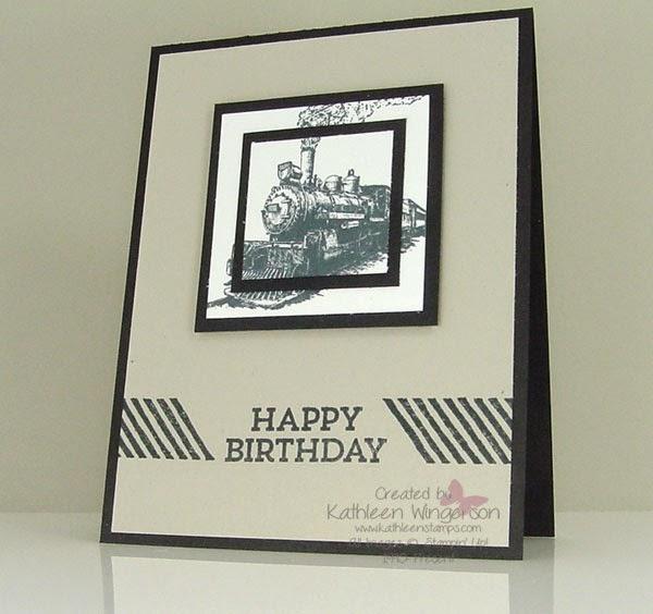 kathleenstamps it's masculine monday  traveler birthday card and, Birthday card