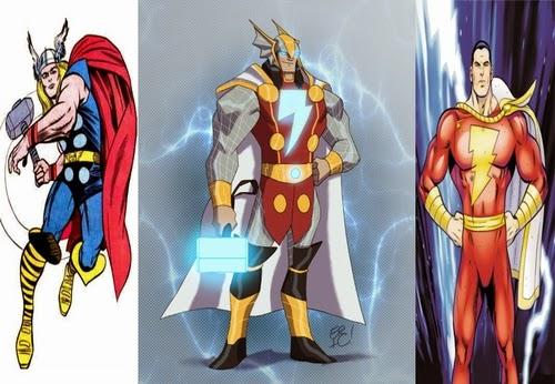 08-Thor-and-Captain-Marvel-comics-Eric-Guzman-Superhero-MashUp-www-designstack-co