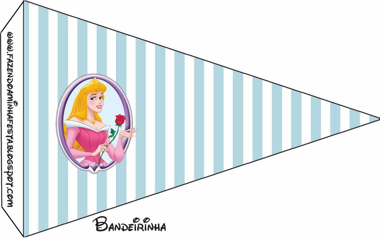 Bella Durmiente: Banderitas o toppers para cupcakes o para poner en la comida.