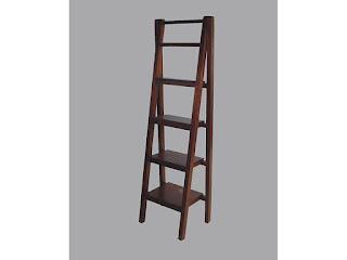estanteria madera escalera