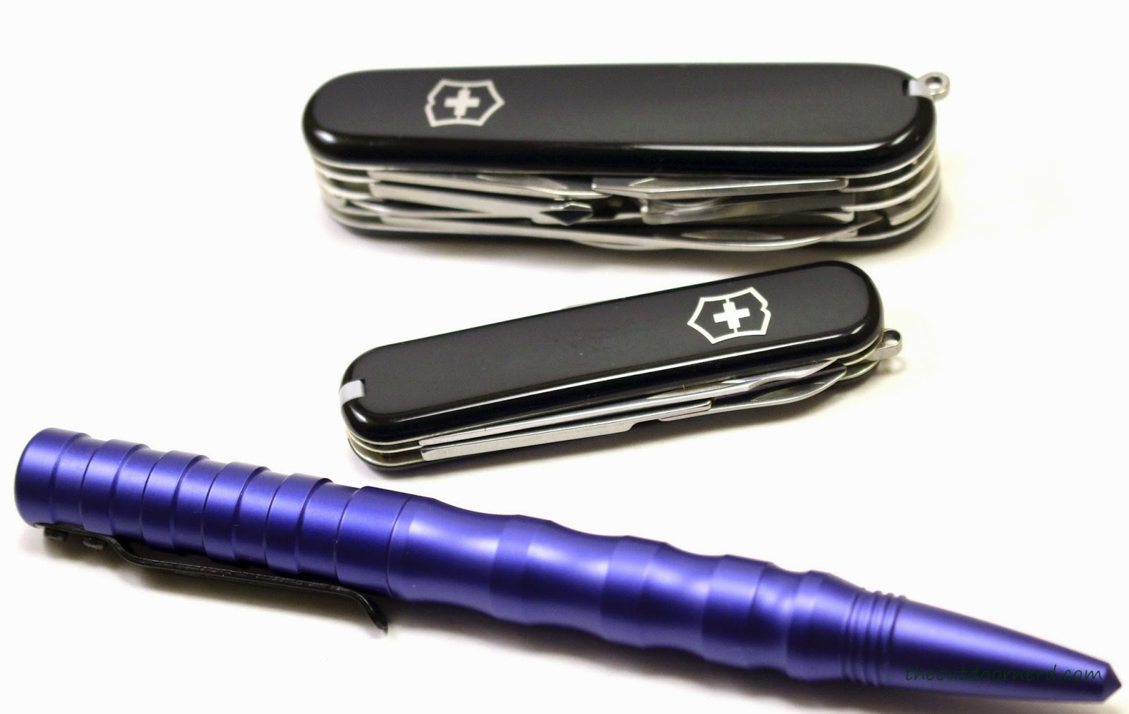Victorinox Executive Multi-Tool Shown With Smith and Wesson Tactical Pen and Victorinox Explorer