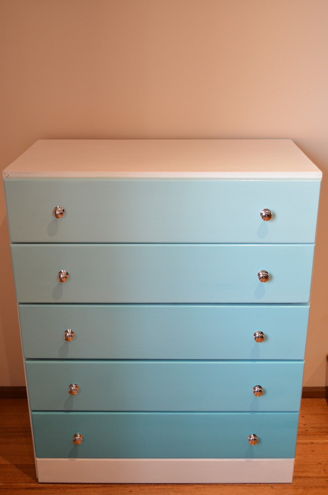 Retro Vintage Love: Chest of Drawers Painted Ombre ...