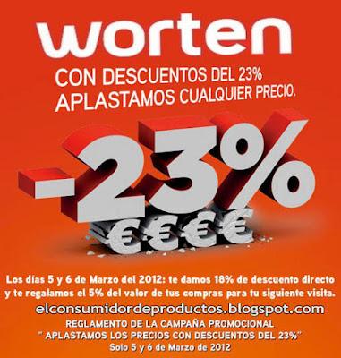 worten dia sin iva hasta 23% de descuento promocion aplastamos los precios