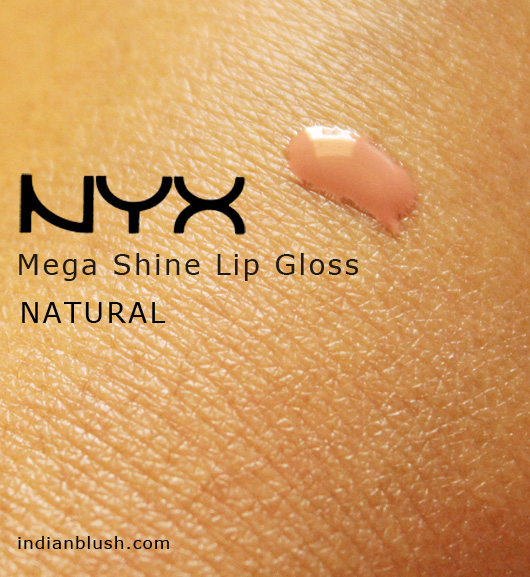 NYX Mega Shine Lip Gloss NATURAL Review Swatches