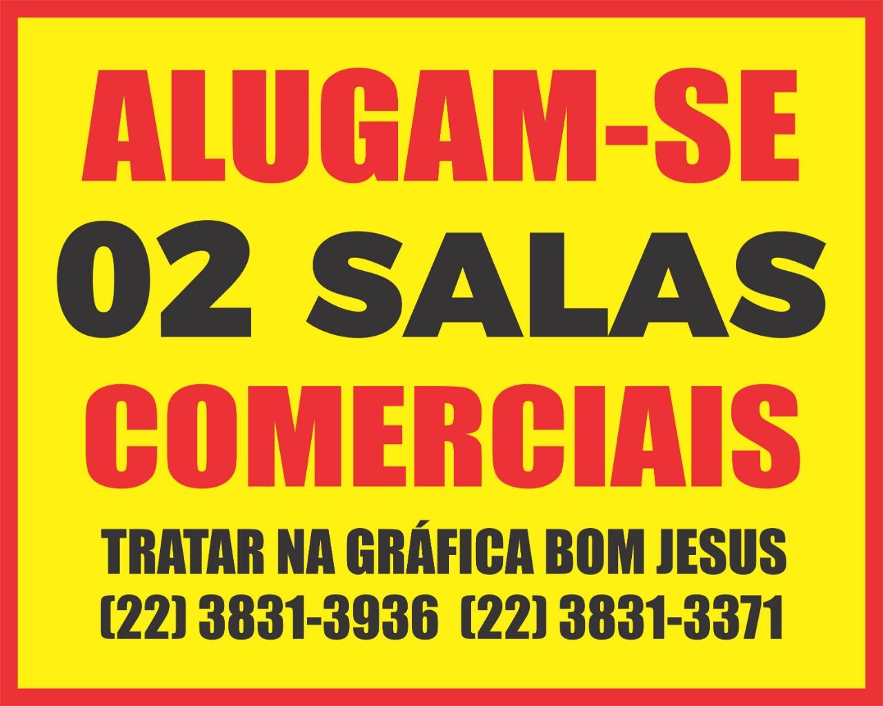 ALUGAM-SE DUAS SALAS COMERCIAIS EM BOM JESUS
