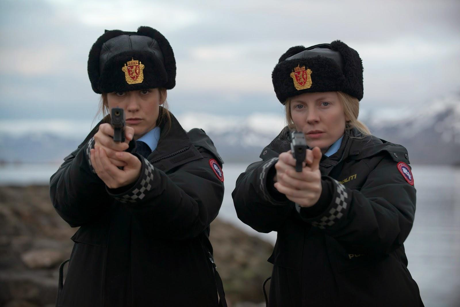 Mia Jexen as PC Ingrid; Alexandra Moen as PC Petra in Fortitude