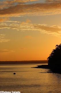 foto do nascer do sol em Alcochete