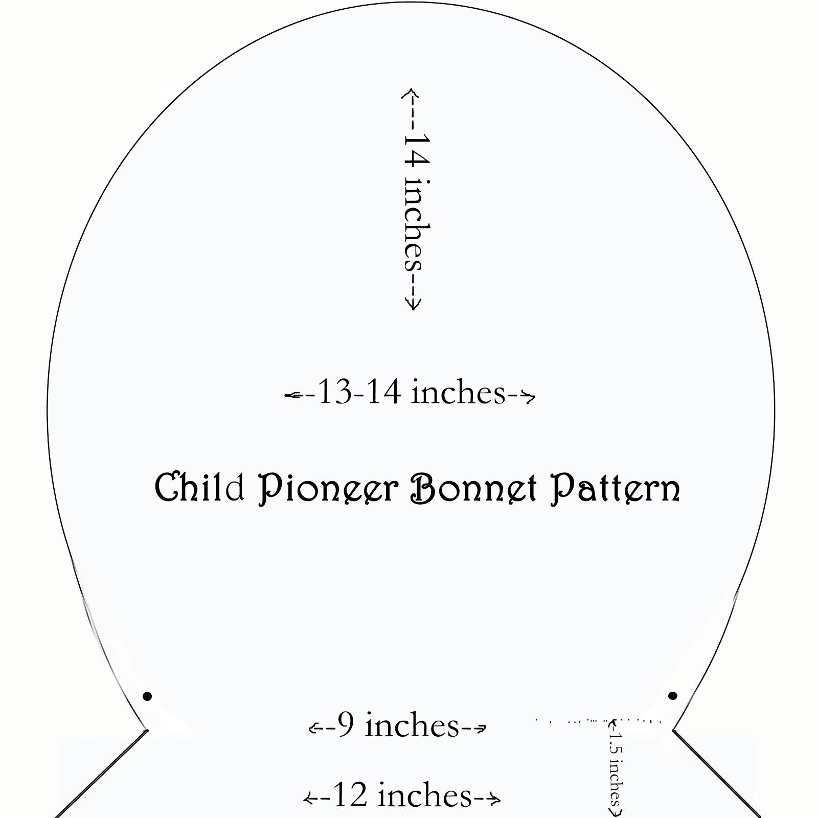 bonnet pattern sewing printable pioneer bonnet pattern amish bonnet ...