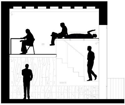 Sección reforma vivienda en el Born. Arquitectura-G