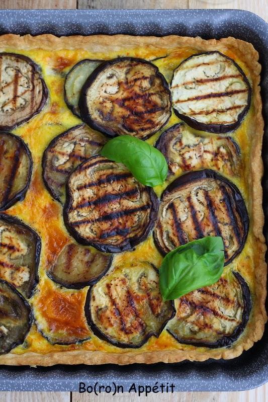Tarta bakłażan gorgonzola
