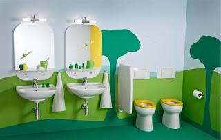 kamar+mandi+anak+tema+pepohonan Desain kamar mandi kecil cantik untuk anak anak