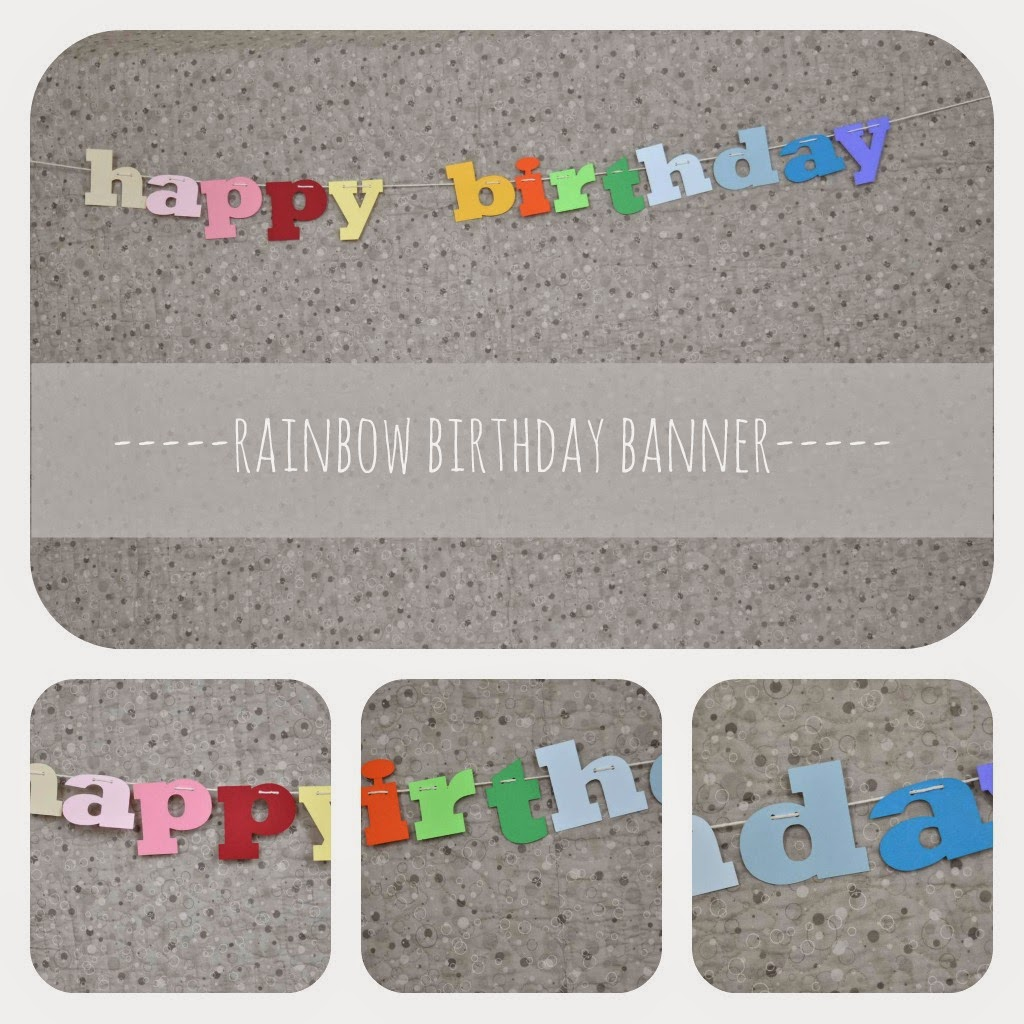 Rainbow happy birthday banner - The Colored Door