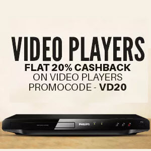 PayTM : Buy Video Players with extra 20% Cashback