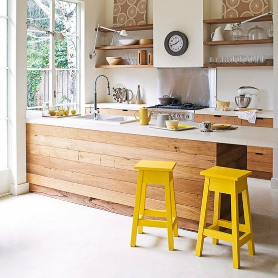 Querido ref gio blog de decora o decora o com madeira for Banquetas de cocina