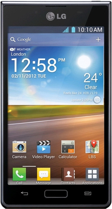 Smart Phones from LG: LG Optimus Net Dual P698 | LG Optimus Hub E510