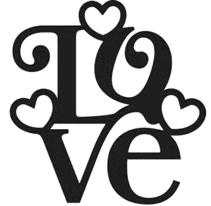 plantilla palabra LOVE para tarjeta San Valentin Scrapbooking