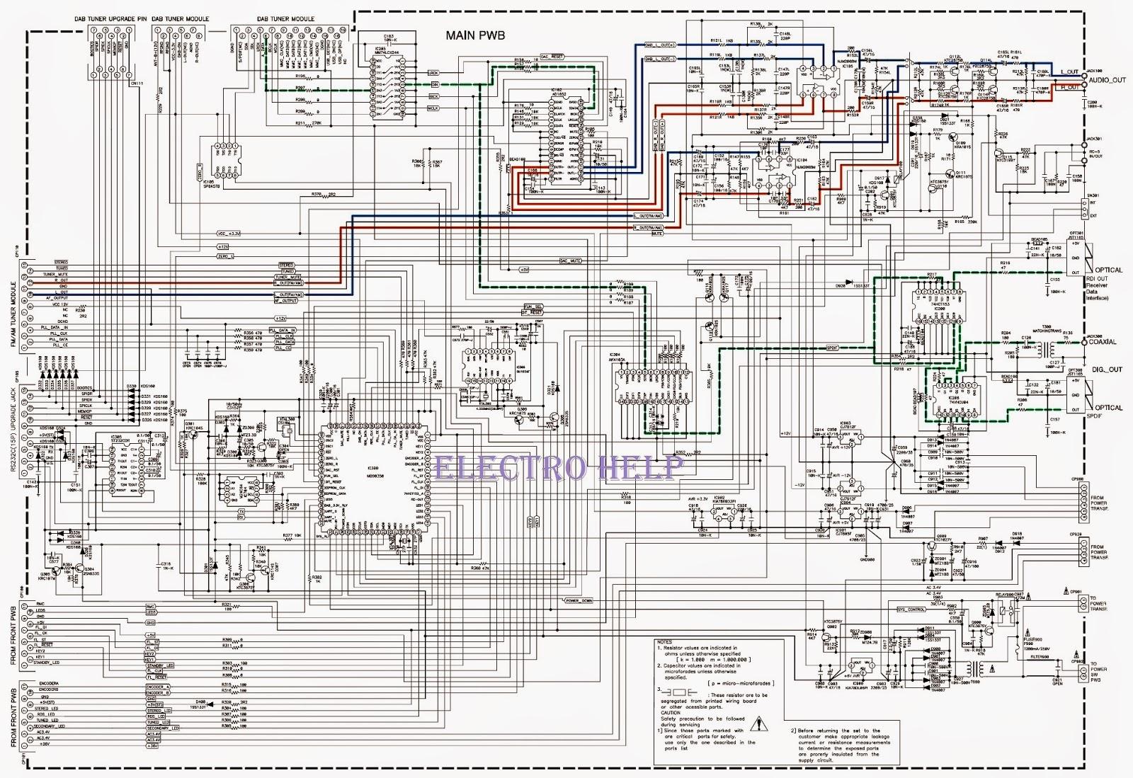 Electro Help  Marantz St-15s1 - How To Enter Service Mode - Circuit Diagram