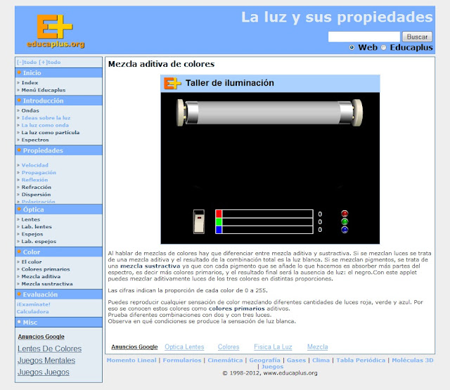 Educacin plstica visual y audiovisual dibujo tcnico la luz y aplicacin aditiva de los colores luz urtaz Choice Image