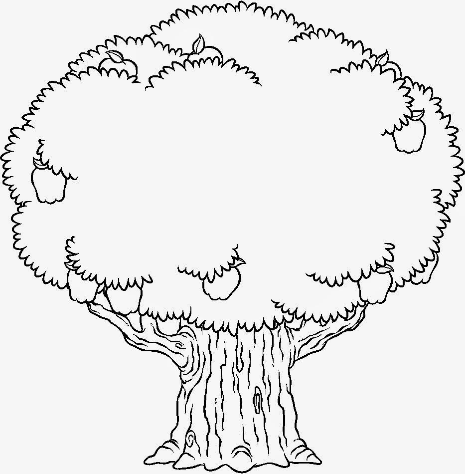 Árvore para pintar - Árvore Simples