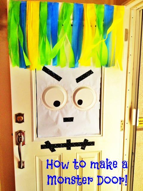 oc mom blog halloween diy decorations monster door